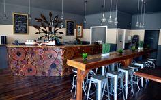 Inside BOSC Bar in West End. Bar Of Social Conscience