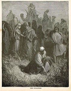 Woodcut featuring bible scenes by Gustave Dore. This 135 year old print was published by the Office of Catholic Publications in about 1880. FREE WORLDWIDE SHIPP