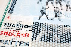 a series of collaged screen prints produced in collaboration with charming baker and jealous gallery