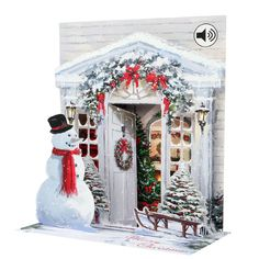 Shoply.com -Snow Man Christmas Pop Up Card. Only £5.95