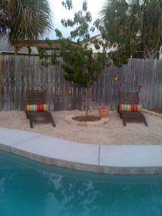 Beach themed backyard beach themed patio decor awesome best backyard beach images on of beach themed Sand Backyard, Backyard Beach, Backyard Paradise, Pea Gravel Patio, Gravel Landscaping, Outdoor Walls, Outdoor Living, Outdoor Decor, Bohemian Patio