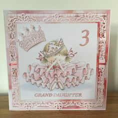 Tattered Lace family sentiments and numbers, Princess Tiara and the Broderie Venetian is added to this Crafter's Companion Angelica & Adam CD Collection image.