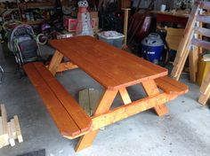 Picnic Table With Ice Trough (with Lid Insert)