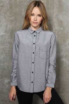 BDG Black Oxford Shirt