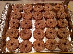 Cute walnut cookies, filled with apricot jam