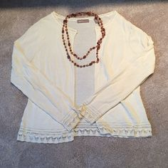 Vintage White Cardigan Super cute lightly used vintage white cardigan. Sweaters Cardigans