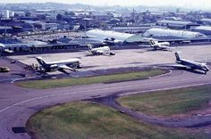Brisbane Airport - note the TAA planes on the tarmac