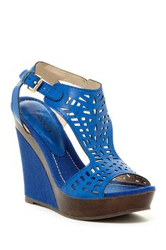 Pierce Laser Cut Wedge Sandal on HauteLook
