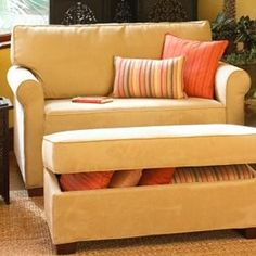 Dylan Twin Sleeper Sofa & Storage Ottoman   review   Kaboodle