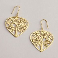 One of my favorite discoveries at WorldMarket.com: Gold Tree of Life Earrings