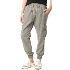 NSF Johnny Cargo Pants ($240) ❤ liked on Polyvore featuring pants, pigment cargo, military pants, military style cargo pants, brown pants, elastic ankle pants and brown trousers
