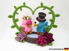 Häkelanleitungen - Vogel Hochzeit Amigurumi Häkelanleitung - ein Designerstück von Dinegurumi bei DaWanda