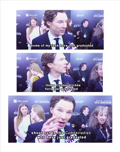 """""""I love that """"Cumberbitches"""" bothers him so much. There are far too few gentlemen left in the world!""""<---Agreed. Thank you, Benedict, for showing respect for your fans. And being that much more attractive for it. ;)"""