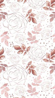 New Wallpaper Iphone Glitter Flowers Ideas Gold Wallpaper Background, Rose Gold Wallpaper, Trendy Wallpaper, New Wallpaper, Pretty Wallpapers, Flower Wallpaper, Wallpaper Backgrounds, Floral Wallpapers, Desktop Wallpapers