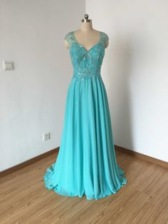 Long Prom Dress Prom Dress 2016 Cap Sleeves Prom by DressCulture