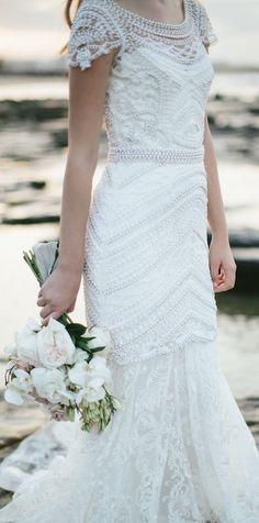 Wedding Dress by Anna Campbell Bridal #weddingdress #weddings #bride #bridal #bridalgown #weddinggown