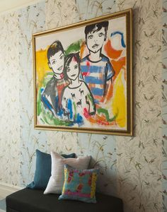 love this kids portrait made by Linda Mason...from a Novogratz designed brownstone via: Apartment Therapy