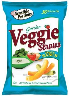 Sensible Portions Veggie Straws - Zesty Ranch, 1 Oz Bags (Pack of 24): Amazon.com: Grocery & Gourmet Food