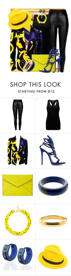 """FALL 2016 #11 by DaNewMeh"" by thchosn ❤ liked on Polyvore featuring Black, BKE, Versace, Giuseppe Zanotti, Rebecca Minkoff, Furla, Slate & Willow, West Coast Jewelry and Mademoiselle Slassi"