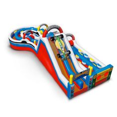 Super Indy Car Inflatable Obstacle Course Rentals