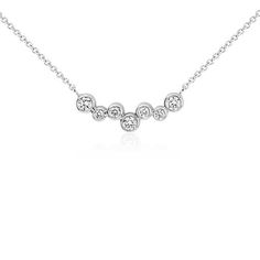 Bubble Bar Diamond Necklace in 14k White Gold #PinToWin #BeMine #ValentinesDay…