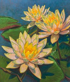 Fiona Craig, 'Water Lilies 11', painting + PRINTS IN MANY SIZES at www.FionaCraig.com