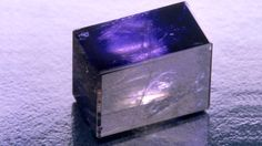 This block of iolite was cut to highlight its distinctive pleochroism. - Maha Tannous. GIA (063014)