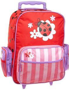 Backpacks Travel Rolling Luggage For Kids Multi Pockets School Bag Ladybug New #StephenJoseph #Ladybug