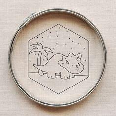 pattern // demure dinosaur - Wild Olive