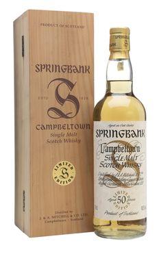 SPRINGBANK 50 YEAR OLD Millennium Set, Campbeltown Whiskey Drinks, Scotch Whiskey, Bourbon Whiskey, Single Malt Whisky, Beer Bar, Wine And Spirits, Label Design, Cellar, Cigars