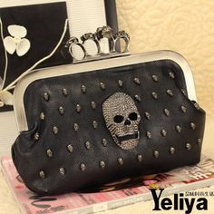 stacy bags new arrival 2014 women fashion skull ring bag day clutches female evening bag ladies chain hand bag small clutch $16.00