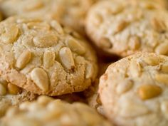 Italian Dessert Recipe: Sweet Pine Nut Almond Cookies--- Otherwise known as Pignoli Cookies. my fave! Cookie Desserts, Gluten Free Desserts, Just Desserts, Cookie Recipes, Delicious Desserts, Dessert Recipes, Game Recipes, Italian Cookies, Italian Desserts