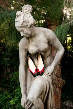 Christian Louboutin pumps. They belong to Sally Draper