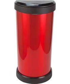 buy curver 40 litre deco touch top kitchen bin red at. Black Bedroom Furniture Sets. Home Design Ideas