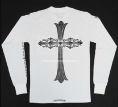 5a9ae63e2045 White Chrome Hearts Bigbang Double Cross T-shirt Online. Color  White. Scoop