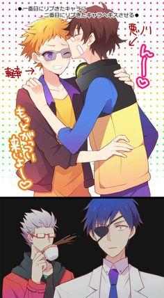 murasaki's face is hilarious HAMATORA  http://www.pixiv.net/member.php?id=2370500