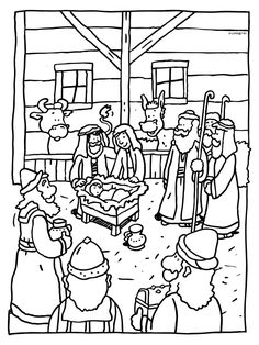 Christmas Color Page Christmas Worksheets, Christmas Activities, Christmas Crafts For Kids, Christmas Colors, Christmas Projects, Christmas Nativity, Christmas Art, Bible Coloring Pages, Coloring Books