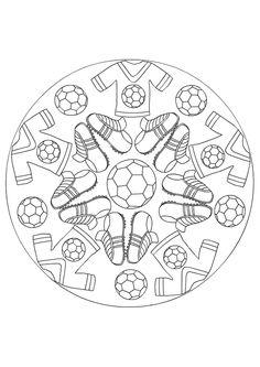 Kleurplaat Mandala kleurplaten (5223) | voetbal