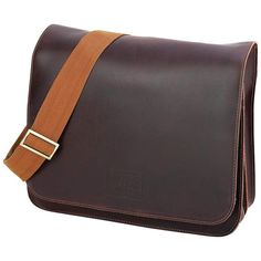 Leather Attache with Shoulder Strap