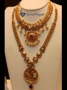 jewelorigins.com-Indian Designer Gold and Diamond Jewellery,Indian Bridal Jewellery: Nakshi Jewellery