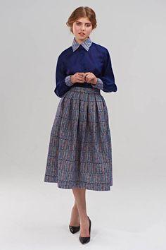 sybil super full pleated skirt by mrs pomeranz   notonthehighstreet.com