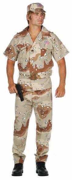 Storm Fox Desert Camouflage Adult Costume, Plus Size costumes - Desert Camouflage includes Shirt, Pants, Belt and Hat. Patriotic Costumes, Adult Costumes, Camouflage, Deserts, Fox, Men Casual, Plus Size, Mens Tops, Pants