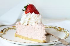 No Bake Strawberry Cheesecake is the perfect way to add a sweet treat to a hot summer day! This delicious dessert is very easy and so impressive!
