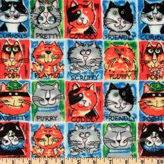 Cat Fabric Found on Bing Cat Fabric, Cats, Gatos, Cat, Kitty, Kitty Cats