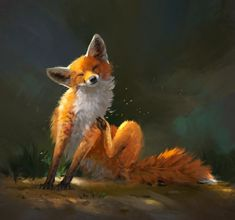 "Leesha Hannigan en Twitter: ""ok I sketched the scritchy fox for you guys… """