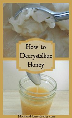 How to decrystallize honey |  It is not unusual for raw honey to crystallize, or turn hard. Learn how to liquefy honey without destroying the health benefits of raw honey  | Montana Homesteader