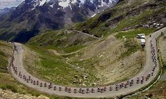 Cycling the Marmotte 'sportive' in France article in the Guardian. Tour cyclists climb the Galibier pass between Briancon and Courchevel