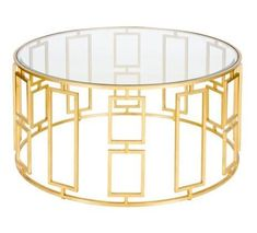 Jenny Gold Leaf Round Coffee Table