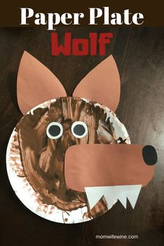 Paper plate wolf craft for toddlers 3 little pigs. Pig Crafts, Animal Crafts, Book Crafts, 3 Little Pigs Activities, Activities For Boys, Toddler Crafts, Crafts For Kids, Nursery Rhyme Crafts, Nursery Rhymes