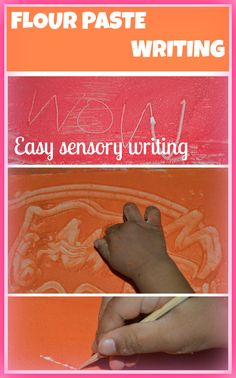Paste Paper sensory writing for toddlers and pre schoolers